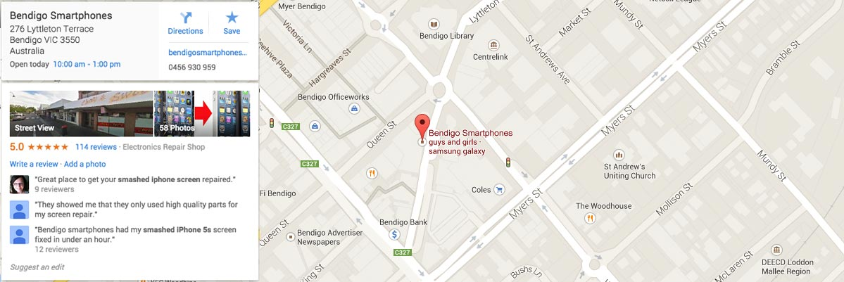 google_map_1200_bendigo_smartphones_screen_repairs_iphone6