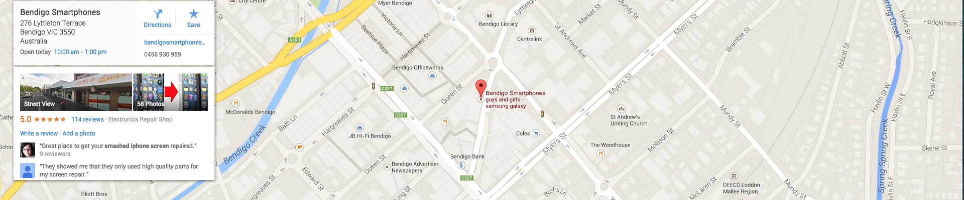 google_map_1920_bendigo_smartphones_screen_repairs_iphone6